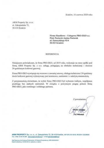 List referencyjny ARM Property